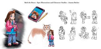 Spot Illustrations of Beth