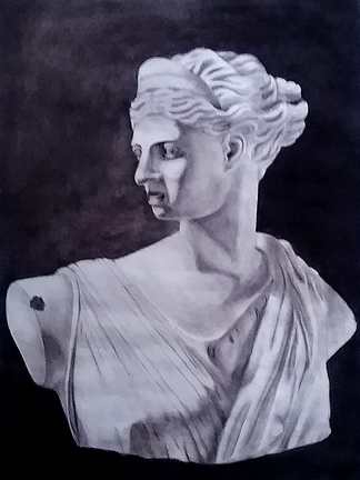 Charcoal Bust