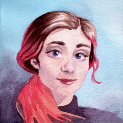 Watercolor Self Portrait