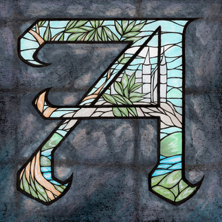 Stained Glass Letter A