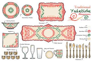 Traditional Yuletide Dinnerware