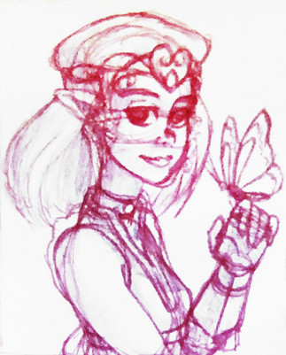 Breela Portrait Sketch