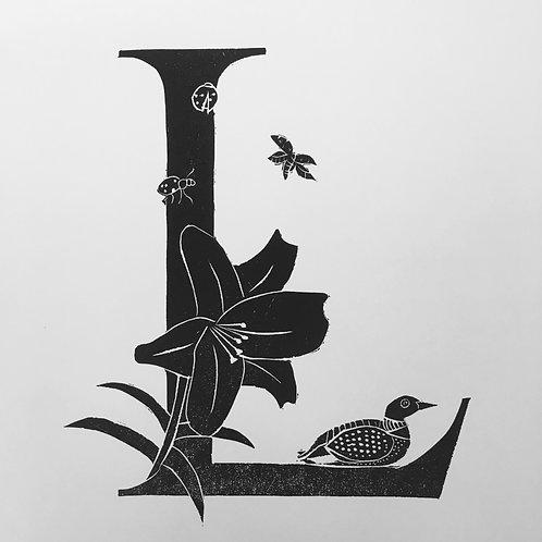 """Illustrated Alphabet """"L"""""""