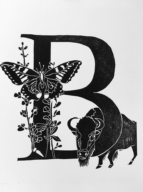 "Illustrated Alphabet ""B"""