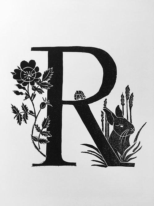 "Illustrated Alphabet ""R"""