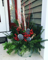 Custom Holiday Planters