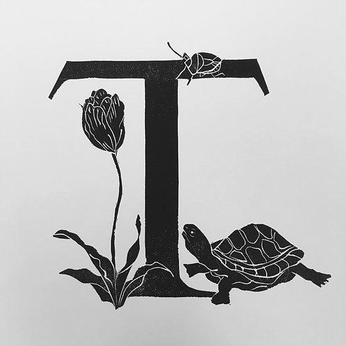 "Illustrated Alphabet ""T"""