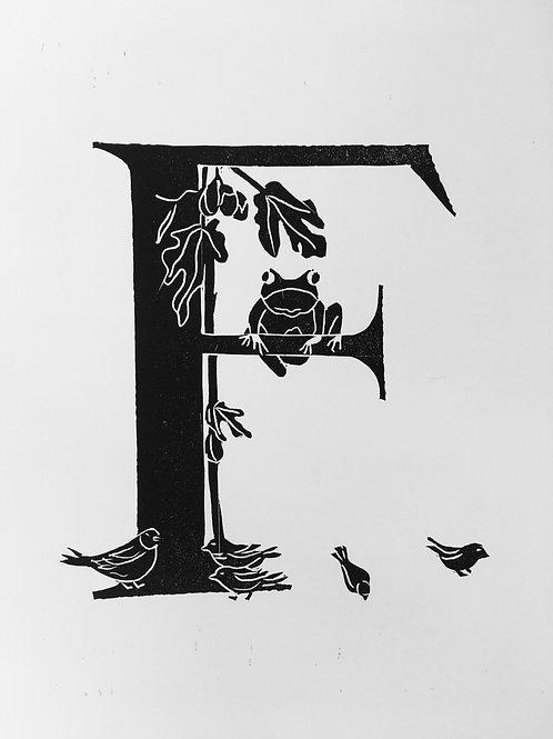 "Illustrated Alphabet ""F"""