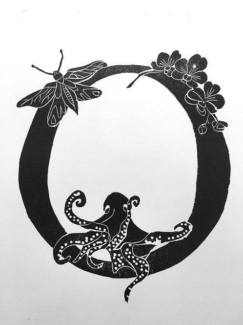 "Illustrated Alphabet ""O"""