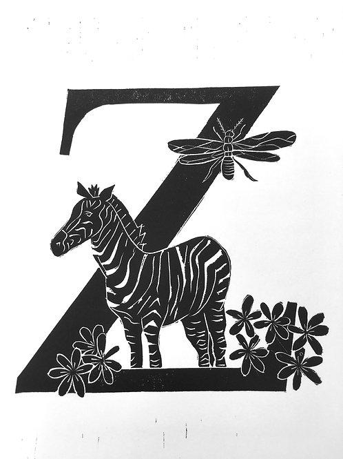 "Illustrated Alphabet ""Z"""