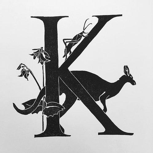 "Illustrated Alphabet""K"""