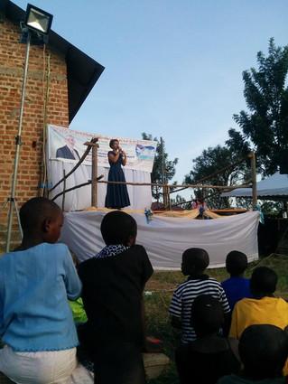 Alina sharing her testimony in Kitura