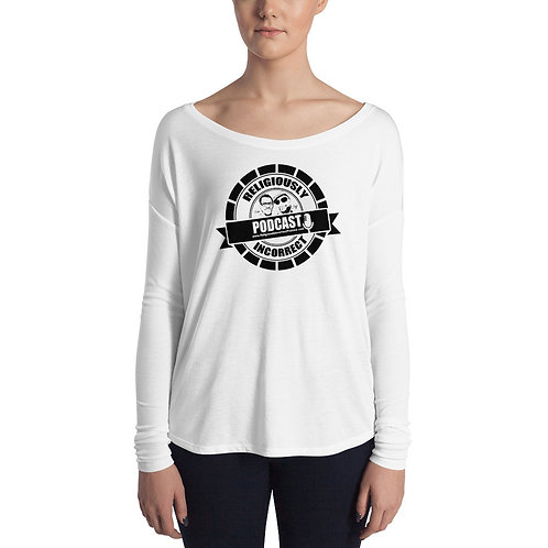 Religiously Incorrect Podcast Branded Ladies' Long Sleeve Tee
