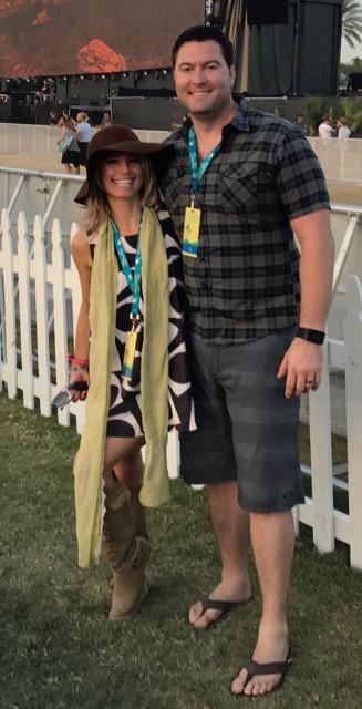 Heather Brittany & Brian at Desert Trip Concert