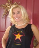 Heather Brittany wearing the Black Be the Star You Are! Tank top