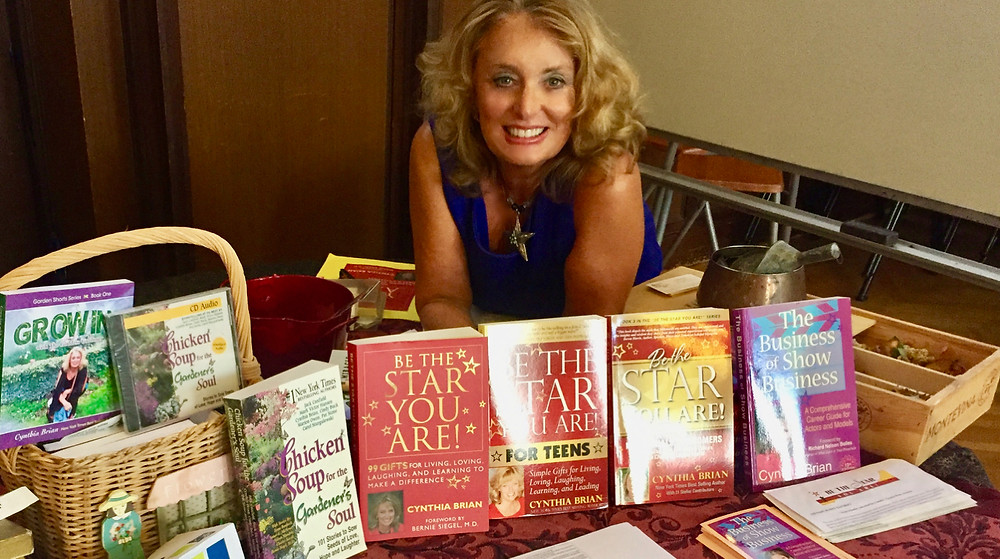 cynthia brian with her books