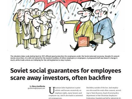 Soviet social guarantees for employees scare away investors, often backfire