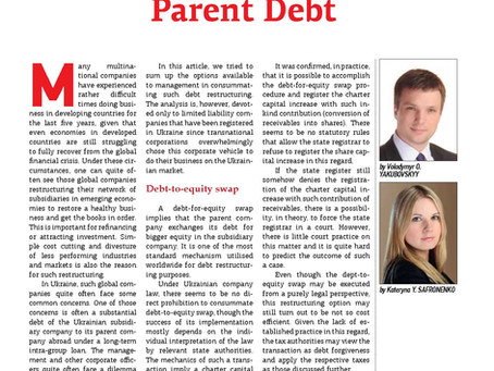 How Can a Subsidiary Become Free From Foreign Parent Debt
