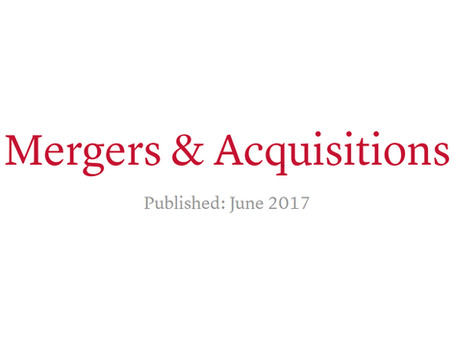 Mergers and acquisitions in Ukraine - GTDT 2017