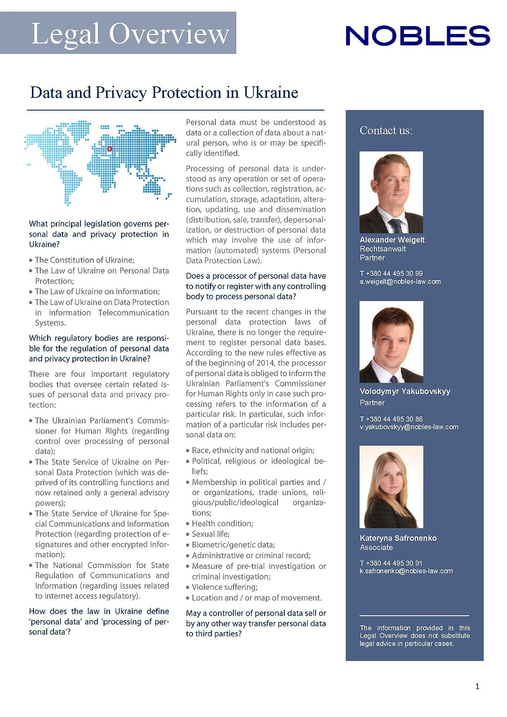 Nobles _Legal overview Data Protection Ukraine_July 2014.jpg