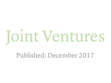 Joint Ventures in Ukraine - GTDT 2018