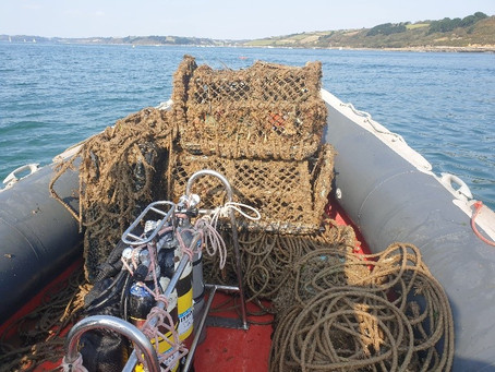 Five lost lobster pots recovered - East Narrows - Carrick Roads
