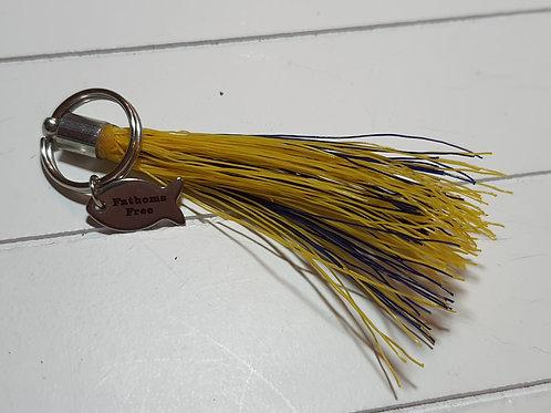 Pair of key ring/ zip puller tassels