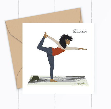 Yoga Greeting Card, The Dancer Pose