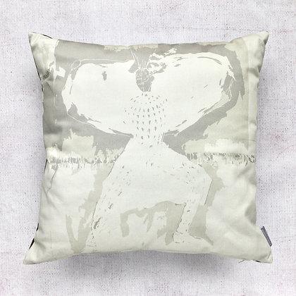 Silver Urban Fashion Print Cushion Cover