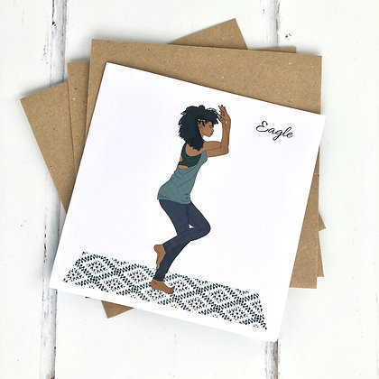 Yoga Greeting Card, The Dancer Pose