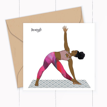 Yoga Greeting Card, Triangle Pose