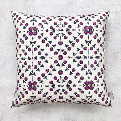 Mauve Geometric Print Cushion Cover