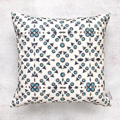 Mediterranean Blue Print Cushion Cover
