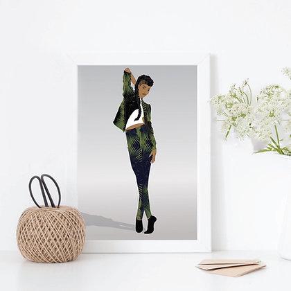 A4 Art Print, Black Girl Magic Unframed Poster