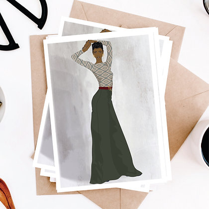 Fashion Art Greeting Card