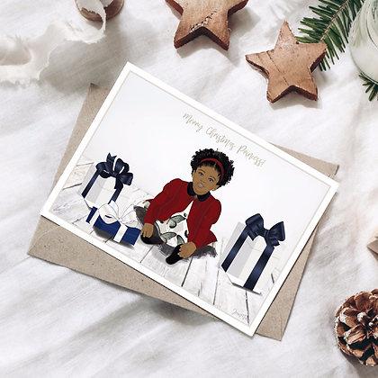 Merry Christmas Princess Card for Her