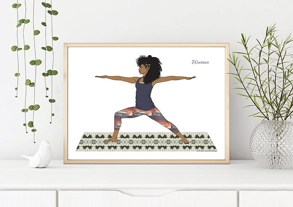 Warrior Pose Yoga Art Print