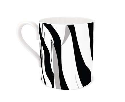 Stripe a Pose! Bone China Mug