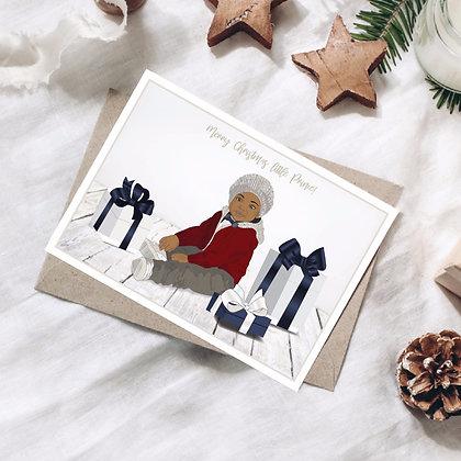 Merry Christmas Little Prince Card for Boys