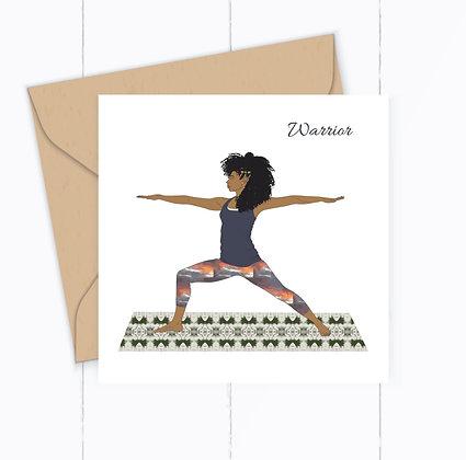 Warrior Yoga Greeting Card
