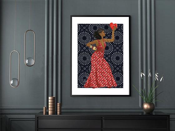 A3 Afro-Chic Art Print