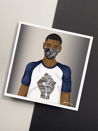 Urban Art, Black Power Greeting Card