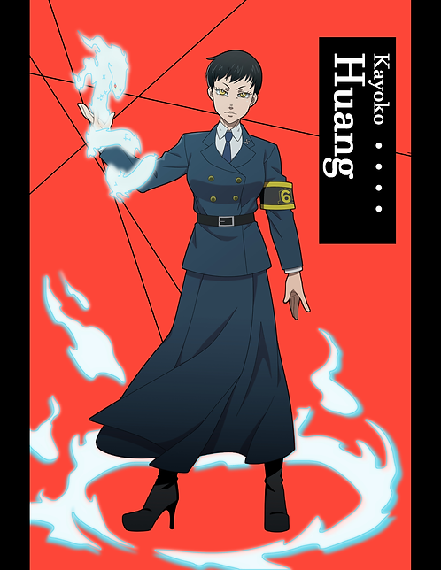 "Fire Force: Captain Kayoko Huang (8.5""x11"" print)"