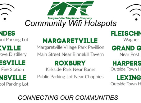 WiFi Hot Spots Active in the MTC Service Area