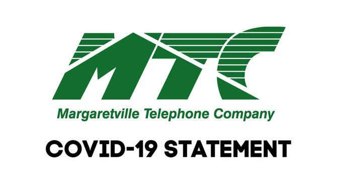 Margaretville Telephone Company statement regarding CoVID-19 preparedness