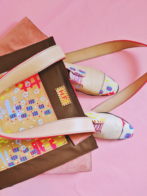 """""""Wonderland"""" Large Tote and Oxfords"""
