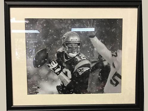 Tom Brady Tuck Rule - Custom Frame, Double Matted, Black & White Video Still