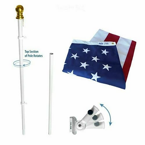Aluminum Rotating Pole with Gold Ball (6' also available)