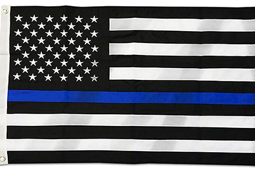 Thin Blue Line US Flag - 100% Nylon Outdoor Flag