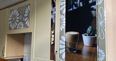 Harding Terrace Kitchen cupboard artwork